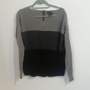 DKNY Jeans Muti Grey Block Sweater